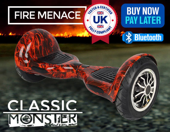 """MONSTER FIRE MENACE SWEGWAY<br><font color=""""red"""">Sorry out of stock!</font>"""