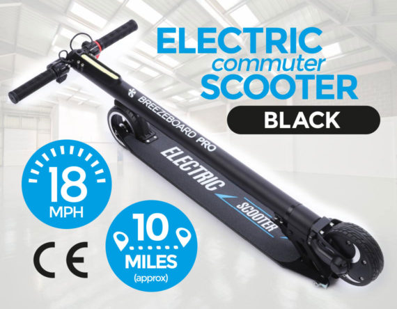 Electric Commuter Scooter Black